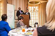 Kenneth N. Wilson addresses the Ohio University State Government Alumni Luncheon on Tuesday, May 5, 2015. Wilson was given the Outstanding State Government Alumnus Award.  Photo by Ohio University  /  Rob Hardin