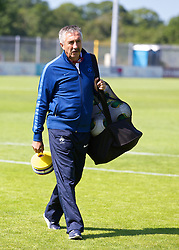 HAVERFORDWEST, WALES - Sunday, August 25, 2013: France's head coach Gilles Eyquem during the Group A match of the UEFA Women's Under-19 Championship Wales 2013 tournament at the Bridge Meadow Stadium. (Pic by David Rawcliffe/Propaganda)