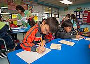Herlinda Naranjo teaches her 1st grade class at Janowski Elementary School, May 16, 2013.