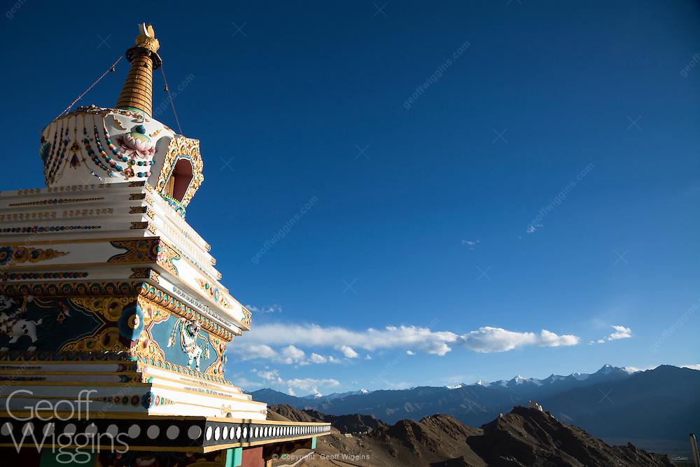 Buddhist stupa overlooking Leh, Ladakh, India