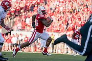 Antonio Reed #25 of the Nebraska Cornhuskers intercepts a pass during Nebraska's game vs. Rutgers at Memorial Stadium in Lincoln, Neb., on Sept. 23, 2017. Photo by Aaron Babcock, Hail Varsity