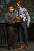 KELOWNA, CANADA - MARCH 19:  Most Sportmanlike award presented to Lucas Johansen by Jeff MacIsaac at the Kelowna Rockets Awards Ceremony on March 19, 2017 at the Kelowna Community Theater in Kelowna, British Columbia, Canada.  (Photo By Cindy Rogers/Nyasa Photography,  *** Local Caption ***