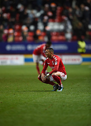 Charlton Athletic's Karlan Ahearne-Grant reacts at full time