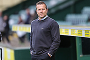 Forest Green Rovers manager, Mark Cooper during the EFL Sky Bet League 2 match between Yeovil Town and Forest Green Rovers at Huish Park, Yeovil, England on 24 April 2018. Picture by Shane Healey.