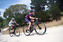 Tanja Erath (GER) in the break across the gravel on Stage 3 of 2020 Santos Women's Tour Down Under, a 109.1 km road race from Nairne to Stirling, Australia on January 18, 2020. Photo by Sean Robinson/velofocus.com