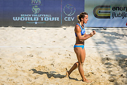 Jelena Pesic during FIVB  Beach Volleyball World Tour Ljubljana 2018, on August 5, 2018 in Kongresni trg, Ljubljana, Slovenia. Photo by Ziga Zupan / Sportida