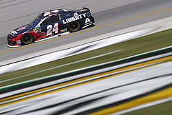 July 13, 2018 - Sparta, Kentucky, United States of America - William Byron (24) brings his race car down the front stretch during practice for the Quaker State 400 at Kentucky Speedway in Sparta, Kentucky. (Credit Image: © Chris Owens Asp Inc/ASP via ZUMA Wire)