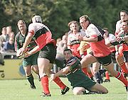 London Irish vs Saracens, Stoop, Richard Hill, running on to collect the pass, Twickenham,.. [Mandatory Credit: Peter Spurrier; Intersport Images].