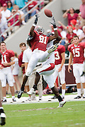 Alabama Crimson Tide wide receiver Keith Brown goes up for a pass during a 24 to 13 win over the Arkansas Razorbacks on September 24, 2005 at Bryant-Denny Stadium in Tuscaloosa, Alabama..Mandatory Credit: Wesley Hitt/Icon SMI