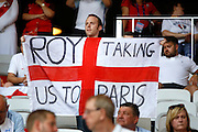 England fan before the Round of 16 Euro 2016 match between England and Iceland at Stade de Nice, Nice, France on 27 June 2016. Photo by Andy Walter.