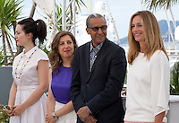 Director Rebecca Zlotowski, director Joana Hadjithomas, director Abderrahmane Sissako, actress Cecile De France at the Jury De La Cinefondation Et Des Courts Metrages  film photo call at the 68th Cannes Film Festival Thursday May 21st 2015, Cannes, France.
