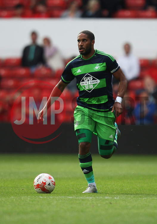 Ashley Williams of Swansea City in action<br /> <br />  - Mandatory by-line: Jack Phillips/JMP - 25/07/2015 - SPORT - FOOTBALL - Nottingham - The City Ground - Nottingham Forest v Swansea - Pre-Season Friendly
