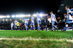 Coventry City and Bristol Rovers walk out prior to kick off - Mandatory by-line: Ryan Hiscott/JMP - 14/01/2020 - FOOTBALL - St Andrews Stadium - Coventry, England - Coventry City v Bristol Rovers - Emirates FA Cup third round replay