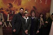 Tom Cruise, Charlie Kearne-Moxley and Bill Wyman, The Last Samurai fil premiere, Leicester Sq. 6 January 2004.  © Copyright Photograph by Dafydd Jones 66 Stockwell Park Rd. London SW9 0DA Tel 020 7733 0108 www.dafjones.com