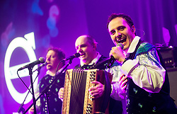 Modrijani, Slovenian tradition folk music group perform at Opening of the new Volvo Trucks and Buses centre, on January 26, 2018 in Zadobrova, Ljubljana, Slovenia. Photo by Vid Ponikvar / Sportida