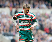 Leicester Tigers Fly Half Tobt Flood looks dejected during the Guinness Premiership final 2010 between Leicester Tigers and Saracens at Twickenham Stadium, London, England. May 29th, 2010. .