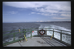 View from the Ferry Deck, Puget Sound, Washington, US