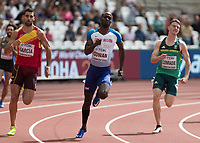 Athletics - 2017 IAAF London World Athletics Championships - Day Two (AM Session)<br /> <br /> Event: Mens 400m Heat 3<br /> <br /> Dwayne Cowan (GBR) with Samuel Garcia (ESP) and Pieter Conradie (RSA)<br /> <br /> <br /> COLORSPORT/DANIEL BEARHAM
