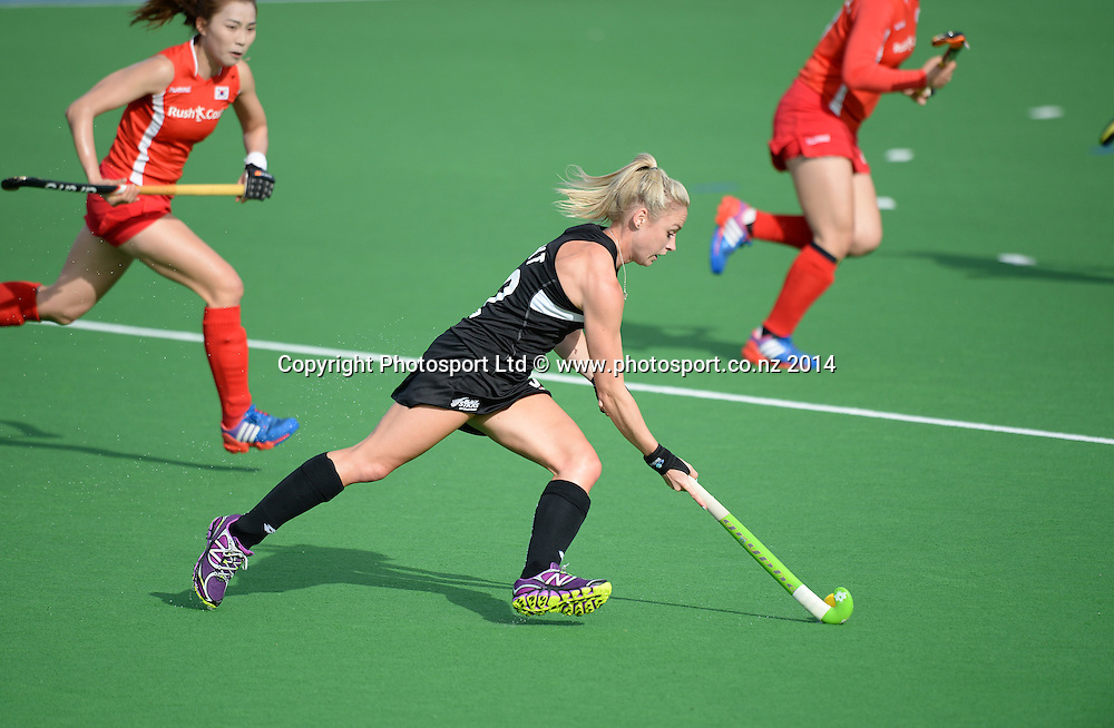 Anita Punt. International Womens Hockey. New Zealand Black Sticks v Korea. Auckland. New Zealand. Saturday 29 March 2014. Photo: Andrew Cornaga / www.photosport.co.nz