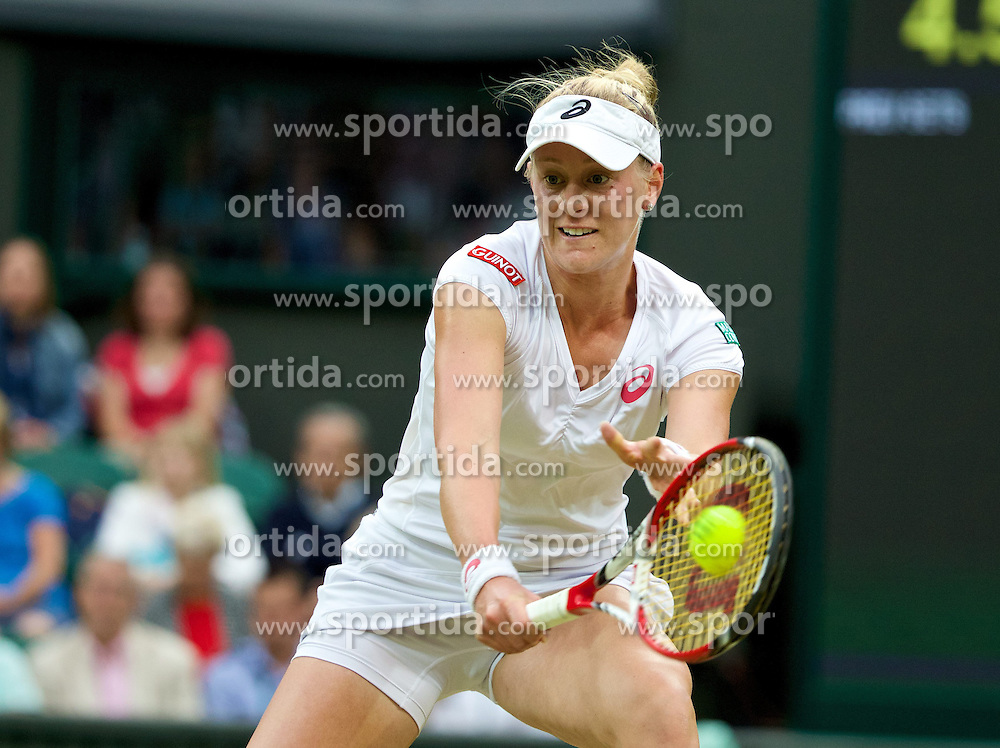 28.06.2014, All England Lawn Tennis Club, London, ENG, WTA Tour, Wimbledon, im Bild Alison Riske (USA) during the Ladies' Singles 3rd Round match on day six // 15065000 during the Wimbledon Championships at the All England Lawn Tennis Club in London, Great Britain on 2014/06/28. EXPA Pictures &copy; 2014, PhotoCredit: EXPA/ Propagandaphoto/ David Rawcliffe<br /> <br /> *****ATTENTION - OUT of ENG, GBR*****