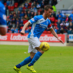 St Johnstone Captain Chris Millar looks to get his side a goal