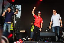 Tim Gajser reacts on stage during sprejem Tima Gajsreja, on Avgust 27, 2019 in Maribor, Slovenia. Photo by Blaž Weindorfer / Sportida