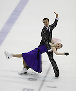 06 Aug 2009: Rebecca Fowler of Quispamsis and Iliya Koreshev of the Kitsilano Figure Skating Club skate in the Senior Free Dance at the 2009 Lake Placid Ice Dance Championships in Lake Placid, N.Y.    © Todd Bissonette