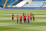 Players of Bristol City arrive for the EFL Sky Bet Championship match between Sheffield Wednesday and Bristol City at Hillsborough, Sheffield, England on 22 April 2019.