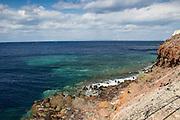 Aegean Sea, off Ammoudi Bay, Santorini, Greece. Example of polarizing filter.