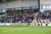 FGR support during the EFL Sky Bet League 2 match between Newport County and Forest Green Rovers at Rodney Parade, Newport, Wales on 26 December 2018.