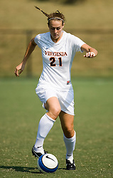 Virginia Cavaliers F Meghan Lenczyk (21)..The Virginia Cavaliers women's soccer team defeated the William and Mary Tribe 1-0 in double overtime at Klockner Stadium in Charlottesville, VA on September 23, 2007.