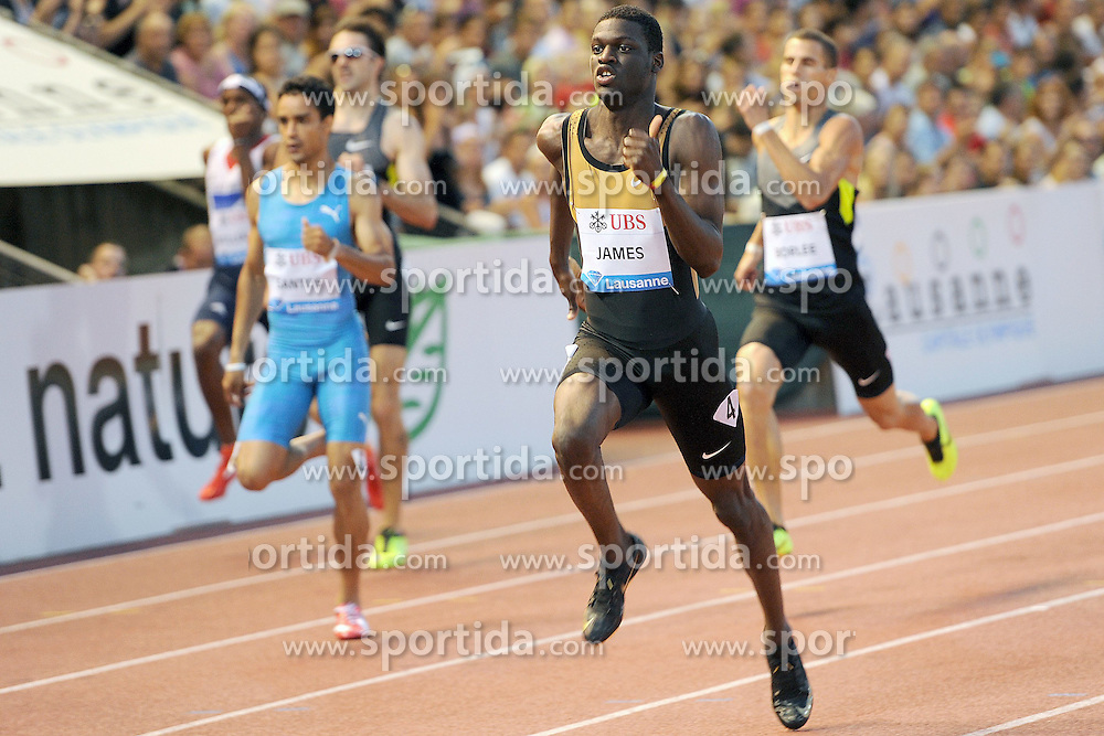 23.08.2012, Stade Olympique de la Pontais, Lausanne, SUI, Athletissima 2012, im Bild Sieger Kirani James (USA), 400m Maenner. EXPA Pictures © 2012, PhotoCredit: EXPA/ Freshfocus/ Urs Lindt..***** ATTENTION - for AUT, SLO, CRO, SRB, BIH only *****
