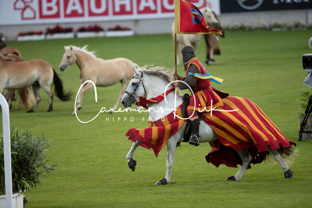 Swedish theme, Medieval festival with Knights Battle<br /> Sweden vs Germany<br /> Opening Ceremony<br /> CHIO Aachen 2016<br /> &copy; Hippo Foto - Dirk Caremans<br /> 12/07/16