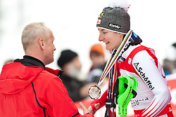 11.03.2010, Goudyberg Damen, Garmisch Partenkirchen, GER, FIS Worldcup Alpin Ski, Garmisch, Lady Giant Slalom, im Bild Podium Slalom Weltcup 2009 2010 Damen, zweitplazierte Zettel Kathrin ( AUT ), EXPA Pictures © 2010, PhotoCredit: EXPA/ J. Groder / SPORTIDA PHOTO AGENCY