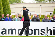 Defending champion Korean golf professional Byeong Hung An tees off  during the BMW PGA Championship Celebrity Pro-Am Day at the Wentworth Club, Virginia Water, United Kingdom on 25 May 2016. Photo by Simon Davies.