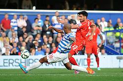 Liverpool's Emre Can takes a shot at goal. - Photo mandatory by-line: Dougie Allward/JMP - Mobile: 07966 386802 - 19/10/2014 - SPORT - football - London - Loftus Road - QPR v Liverpool - Barclays Premier League