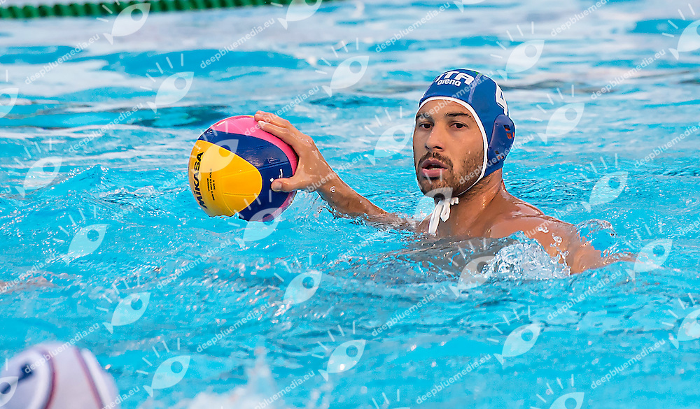 4 FIGLIOLI Pietro ITA<br /> Serbia SRB (white) - Italy ITA (blue)<br /> day 02 - 24/06/2015<br /> FINA Water Polo World League Superfinal Men<br /> Bergamo (ITA) 23-28 June 2015<br /> Photo G.Scala/Deepbluemedia