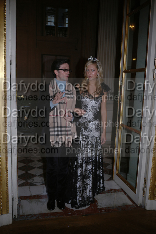 Molly Flattery and Jean-Luc Blais. Getting Ready for the 2005 Crillon Debutante Bal. Crillon Hotel, Paris. 25  November 2005. ONE TIME USE ONLY - DO NOT ARCHIVE  © Copyright Photograph by Dafydd Jones 66 Stockwell Park Rd. London SW9 0DA Tel 020 7733 0108 www.dafjones.com