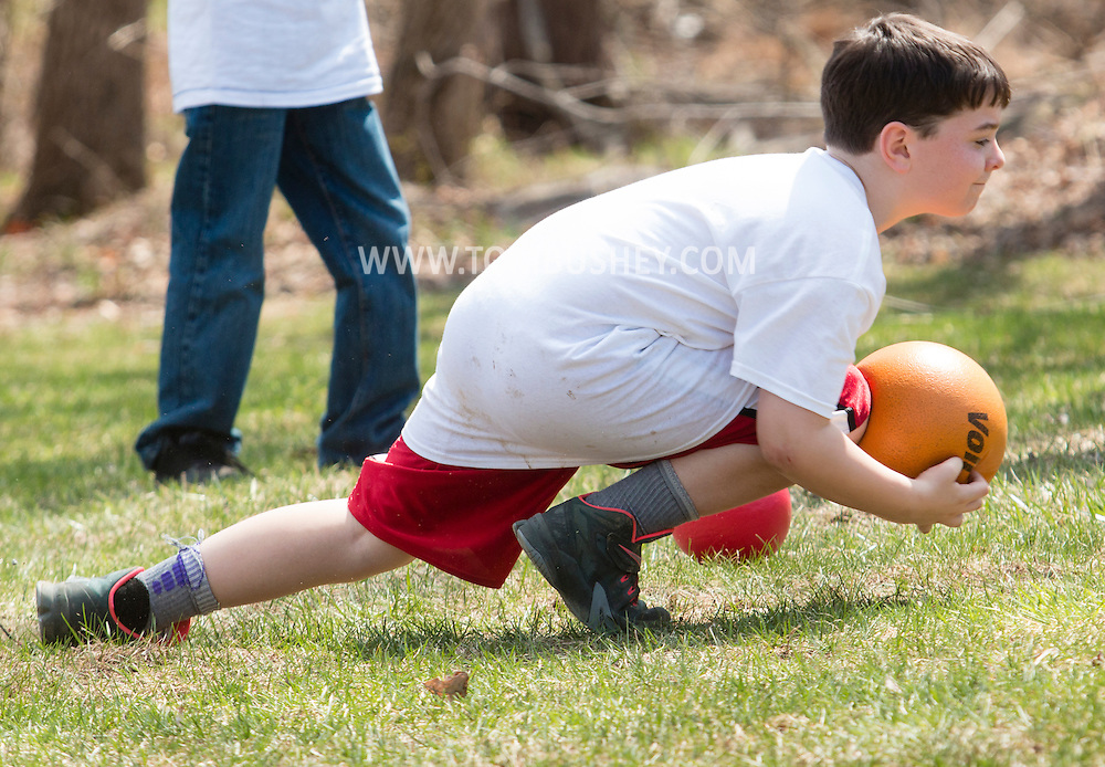 Monroe, New York - People enjoy the Southern Orange Family YMCA Strong Kids Picnic at the American Legion on April 16, 2015.