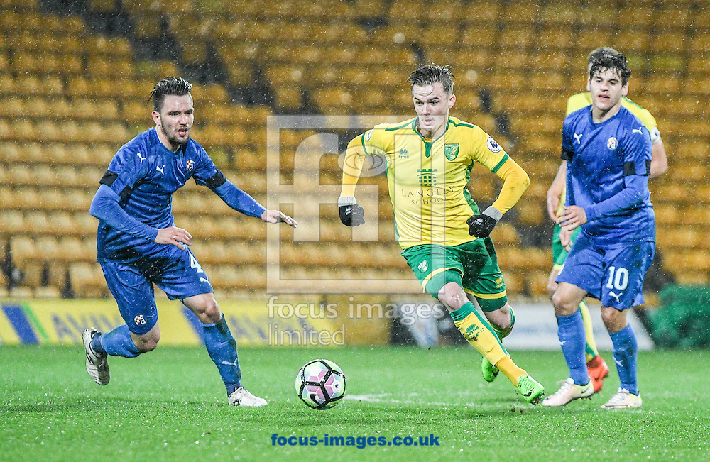 James Maddison of Norwich City U23 v Dinamo Zagreb U23 during the Premier League International Cup Quarter-Final match at Carrow Road, Norwich<br /> Picture by Matthew Usher/Focus Images Ltd +44 7902 242054<br /> 27/02/2017