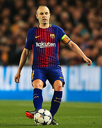Andres Iniesta of Barcelona - Mandatory by-line: Matt McNulty/JMP - 14/03/2018 - FOOTBALL - Camp Nou - Barcelona, Catalonia - Barcelona v Chelsea - UEFA Champions League - Round of 16 Second Leg