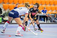 ROTTERDAM -  Noor de Baat (Adam) , dames Amsterdam-SCHC.   ,hoofdklasse competitie  zaalhockey.   COPYRIGHT  KOEN SUYK
