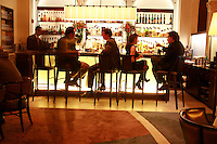 the bar in the Lounge of the Restaurant Daniel, NYC