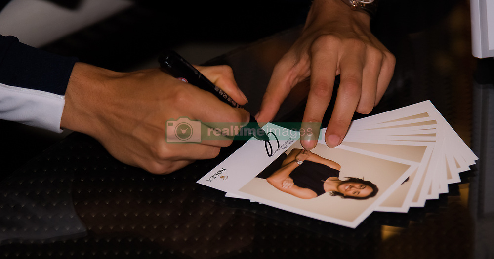 October 3, 2018 - Caroline Garcia of France visits the Rolex lounge at the 2018 China Open WTA Premier Mandatory tennis tournament (Credit Image: © AFP7 via ZUMA Wire)