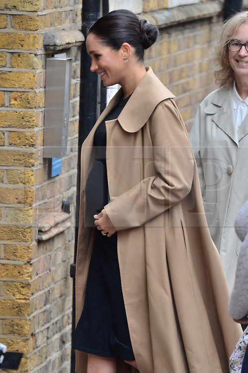 © Licensed to London News Pictures. 10/01/2019. London, UK. The Duchess of Sussex visits<br /> Smart Works, a charity which helps long term unemployed and vulnerable women regain the skills, confidence and tools to succeed at job interviews, return to employment and transform their lives. Photo credit: Ray Tang/LNP