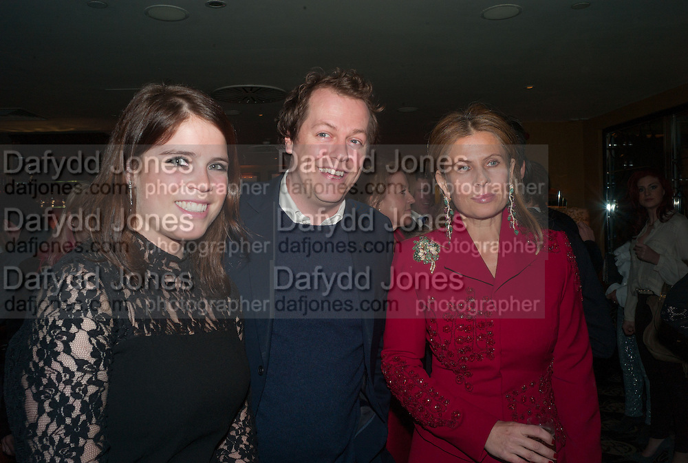 PRINCESS EUGENIE; TOM PARKER BOWLES; LADY FORTE, Chinese New Year dinner given by Sir David Tang. China Tang. Park Lane. London. 4 February 2013.