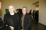 Ellsworth Kelly and Anish Kapoor, Ellsworth Kelly exhibition opening. Serpentine Gallery and afterwards at the River Cafe. London. 17 March 2006. ONE TIME USE ONLY - DO NOT ARCHIVE  © Copyright Photograph by Dafydd Jones 66 Stockwell Park Rd. London SW9 0DA Tel 020 7733 0108 www.dafjones.com