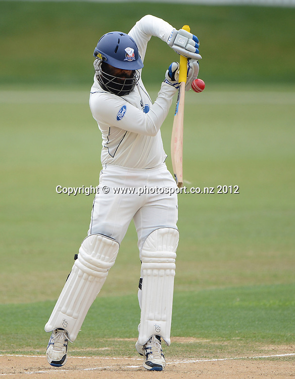 Bhupinder Singh batting for Auckland. Plunket Shield Cricket, Auckland Aces v Canterbury Wizards at Eden Park Outer Oval. Auckland on Tuesday 18 December 2012. Photo: Andrew Cornaga/Photosport.co.nz