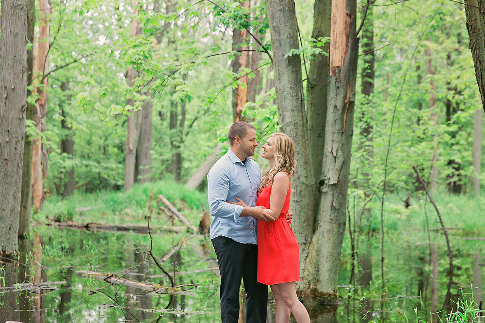 Melissa & Sean Guelph Arboretum Engagement Photos