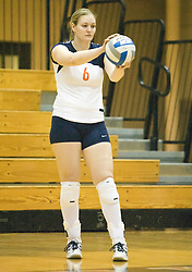 Virginia Cavaliers OH Beth Shelton (6)..The Virginia Cavaliers Volleyball team defeated the Florida State Seminoles 3 games to 1 at Memorial Gymnasium in Charlottesville, VA on September 20, 2007.